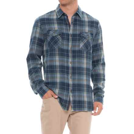 Thread & Cloth Multi Plaid Button Down (For Men) in Navy - Overstock