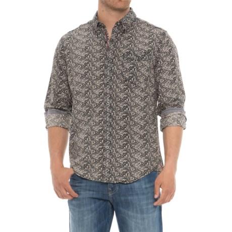 Thread & Cloth Woven Allover Print Shirt - Long Sleeve (For Men) in Black