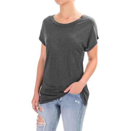 Threads 4 Thought Alexi Tunic Shirt - TENCEL®-Cashmere, Short Sleeve (For Women) in Charcoal - Closeouts