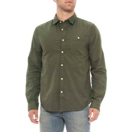 Threads 4 Thought Army Poplin Shirt - Organic Cotton, Long Sleeve (For Men) in Army - Closeouts