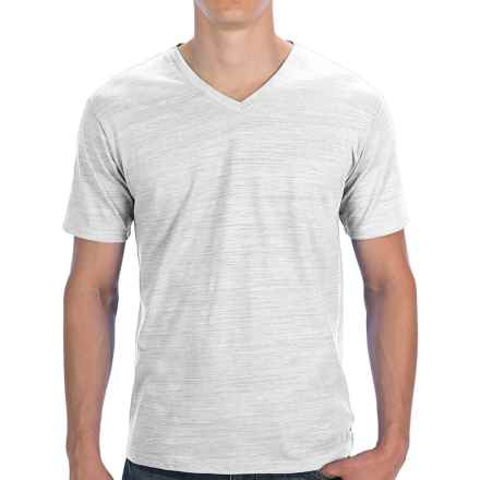 Threads 4 Thought Basic V-Neck Slub T-Shirt - Short Sleeve (For Men) in White - Closeouts