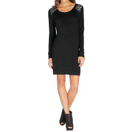 Threads 4 Thought Blake Sweatshirt Dress - Long Sleeve (For Women) in Black - Closeouts