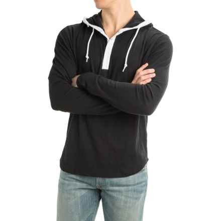 Threads 4 Thought Boardwalk Hooded Shirt - Long Sleeve (For Men) in Black - Closeouts
