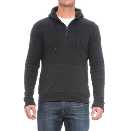 Threads 4 Thought Brenton Hoodie - Organic Cotton Blend, Zip Neck (For Men) in Black - Closeouts