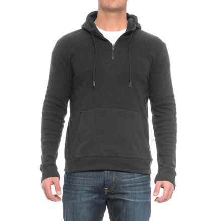 Threads 4 Thought Brenton Hoodie - Organic Cotton Blend, Zip Neck (For Men) in Heather Charcoal - Closeouts
