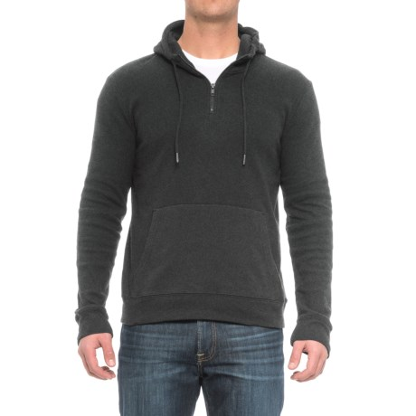 Threads 4 Thought Brenton Hoodie - Organic Cotton Blend, Zip Neck (For Men) in Heather Charcoal