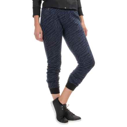 Threads 4 Thought Brice Joggers - Organic Cotton (For Women) in Navy Zebra - Closeouts