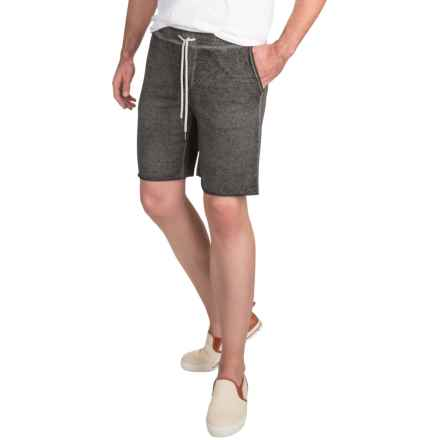 Threads 4 Thought Burnout Sweat Shorts (For Men) in Black - Closeouts