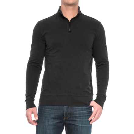 Threads 4 Thought Chad Sueded Jersey Shirt - Organic Cotton, Zip Neck, Long Sleeve (For Men) in Black - Closeouts