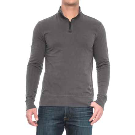 Threads 4 Thought Chad Sueded Jersey Shirt - Organic Cotton, Zip Neck, Long Sleeve (For Men) in Periscope - Closeouts
