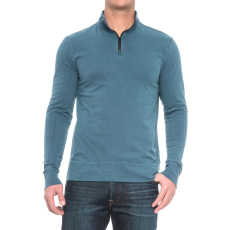 Threads 4 Thought Chad Sueded Jersey Shirt - Organic Cotton, Zip Neck, Long Sleeve (For Men) in Reflecting Pond