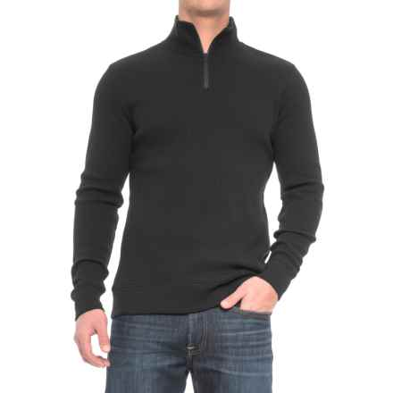 Threads 4 Thought Chad Thermal Shirt - Organic Cotton, Zip Neck, Long Sleeve (For Men) in Black - Closeouts