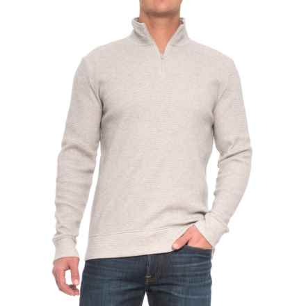 Threads 4 Thought Chad Thermal Shirt - Organic Cotton, Zip Neck, Long Sleeve (For Men) in Heather Grey - Closeouts