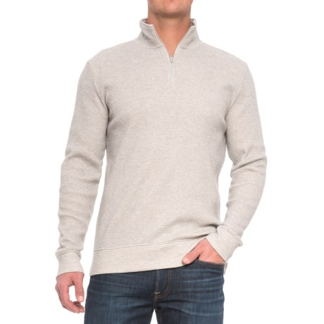 Threads 4 Thought Chad Thermal Shirt - Organic Cotton, Zip Neck, Long Sleeve (For Men) in Heather Grey