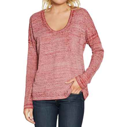 Threads 4 Thought Clementine T-Shirt - Organic Cotton Blend, Long Sleeve (For Women) in Garnet - Closeouts