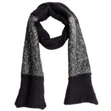 Threads 4 Thought Color-Block Scarf - Organic Cotton (For Women) in Jet Black - Closeouts