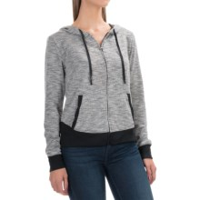 Threads 4 Thought Dharma French Terry Hoodie - Full Zip (For Women) in Black - Closeouts