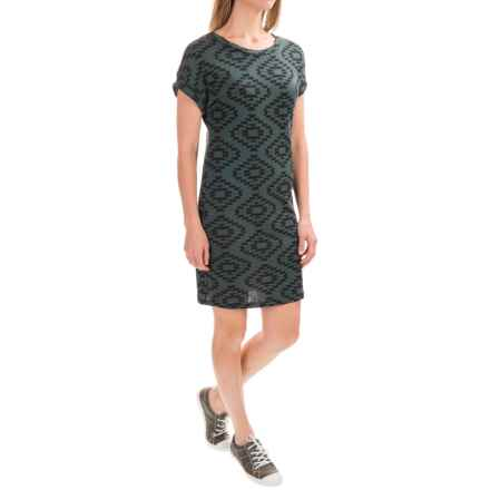 Threads 4 Thought Doba Dress - Organic Cotton, Short Sleeve (For Women) in Cactus - Closeouts