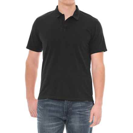 Threads 4 Thought Dune Polo Shirt - Short Sleeve (For Men) in Black - Closeouts