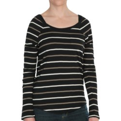 Threads 4 Thought Dusty Stripe Shirt - Long Sleeve (For Women) in Indigo/Rustic/Curry
