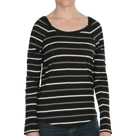Threads 4 Thought Dusty Stripe Shirt - Long Sleeve (For Women) in Blackberry/Amethyst/Cameo