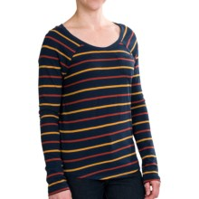 Threads 4 Thought Dusty Stripe Shirt - Long Sleeve (For Women) in Indigo/Rustic/Curry - Closeouts