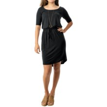 Threads 4 Thought Evelyn Dress - TENCEL®, Elbow Sleeve (For Women) in Black - Closeouts