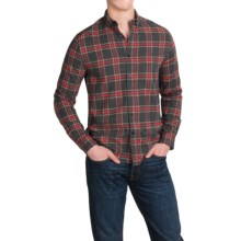 Threads 4 Thought Flannel Shirt - Organic Cotton, Long Sleeve (For Men) in Grey/Red - Closeouts