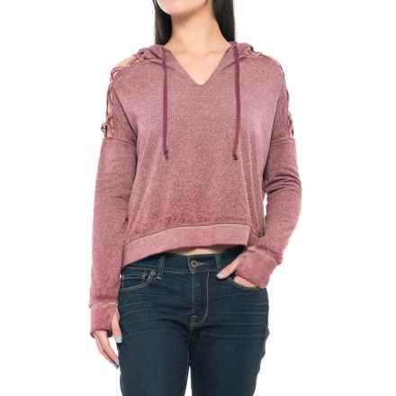 Threads 4 Thought Hazel Cropped Hoodie - Organic Cotton Blend (For Women) in Berry - Closeouts