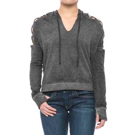 Threads 4 Thought Hazel Cropped Hoodie - Organic Cotton Blend (For Women) in Black - Closeouts