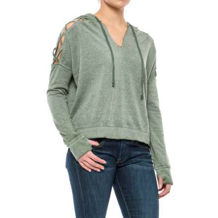 Threads 4 Thought Hazel Cropped Hoodie - Organic Cotton Blend (For Women) in Olive - Closeouts
