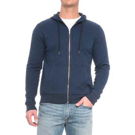 Threads 4 Thought Herringbone Hoodie (For Men) in Black/Blue - Closeouts