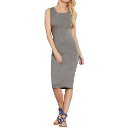 Threads 4 Thought Kai Twisted Open-Back Dress - Sleeveless (For Women) in Heather Steel - Closeouts