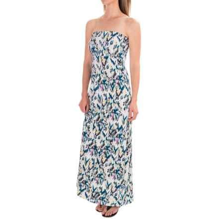 Threads 4 Thought Kaylee Maxi Dress - Strapless (For Women) in Bora Bora Lagoon - Closeouts