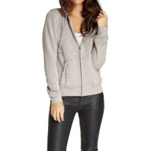 Threads 4 Thought Kendra Fleece Hoodie - Full-Zip, Organic Cotton (For Women) in Heather Grey - Closeouts