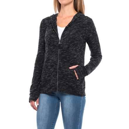 Threads 4 Thought Kenzie Hoodie - Organic Cotton, Full Zip (For Women) in Black - Closeouts