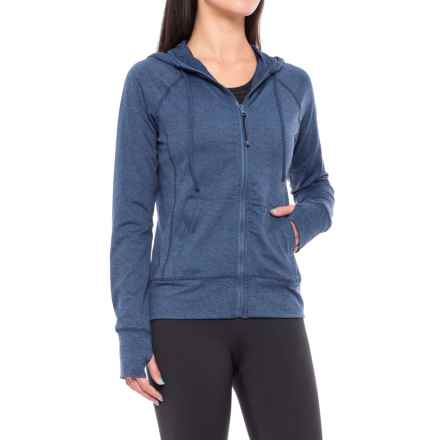 Threads 4 Thought Kian Zippie Hoodie - Full Zip (For Women) in Heather Navy - Closeouts