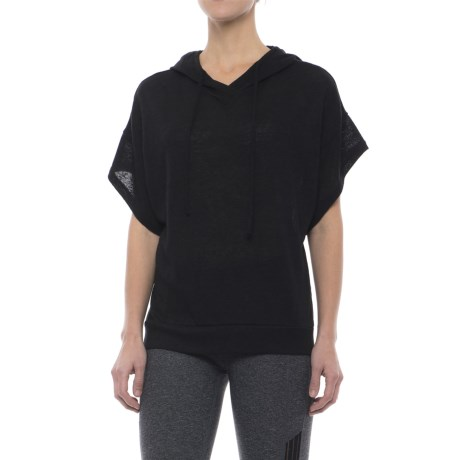 Threads 4 Thought Kyoto Hoodie - Short Sleeve (For Women) in Black