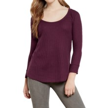 Threads 4 Thought Lacey Thermal Shirt - Scoop Neck, 3/4 Sleeve (For Women) in Merlot - Closeouts
