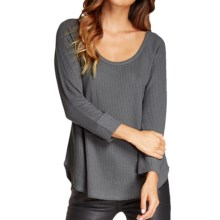 Threads 4 Thought Lacey Thermal Shirt - Scoop Neck, 3/4 Sleeve (For Women) in Pewter - Closeouts
