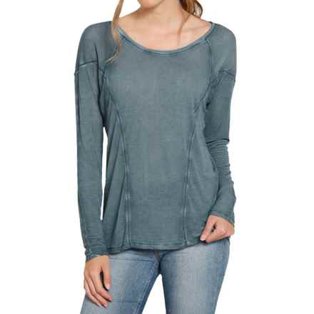 Threads 4 Thought Lada High-Low Shirt - Long Sleeve (For Women) in Deep Bluestone - Closeouts