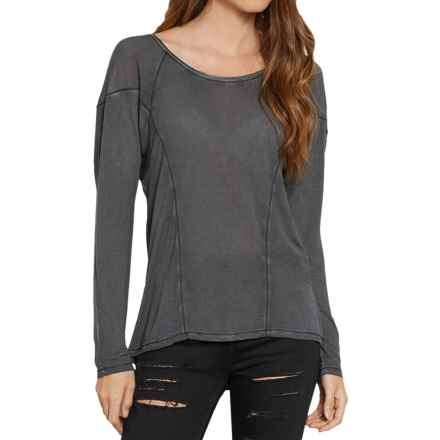 Threads 4 Thought Lada High-Low Shirt - Long Sleeve (For Women) in Matte Black - Closeouts