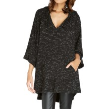 Threads 4 Thought Mabel Oversized Poncho - Organic Cotton, Elbow Sleeve (For Women) in Black - Closeouts