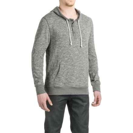 Threads 4 Thought Marled Terry Henley Hoodie (For Men) in Chacoal - Closeouts
