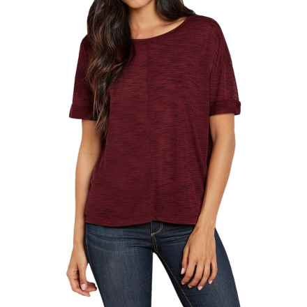 Threads 4 Thought Natasha T-Shirt - Scoop Neck, Short Sleeve (For Women) in Oxblood - Closeouts