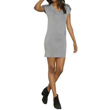Threads 4 Thought Neoma Dress - Lenzing Modal®, Short Sleeve (For Women) in Heather Steel - Closeouts