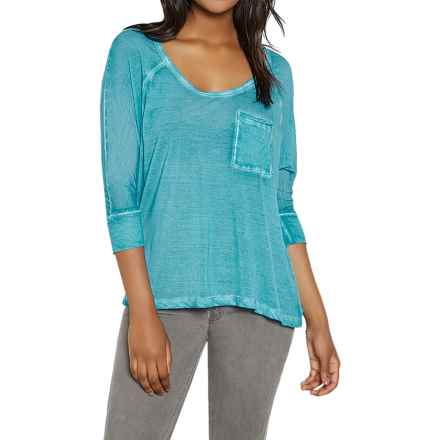 Threads 4 Thought Novia Shirt - Scoop Neck, 3/4 Sleeve (For Women) in Celestial - Closeouts