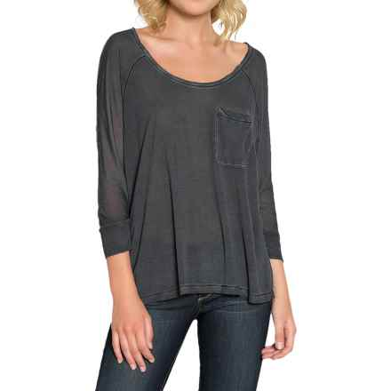 Threads 4 Thought Novia Shirt - Scoop Neck, 3/4 Sleeve (For Women) in Matte Black - Closeouts