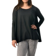 Threads 4 Thought Oni Oversized T-Shirt - Long Sleeve (For Women) in Black - Closeouts