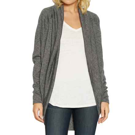Threads 4 Thought Open-Front Cardigan Sweater (For Women) in Asphalt - Closeouts